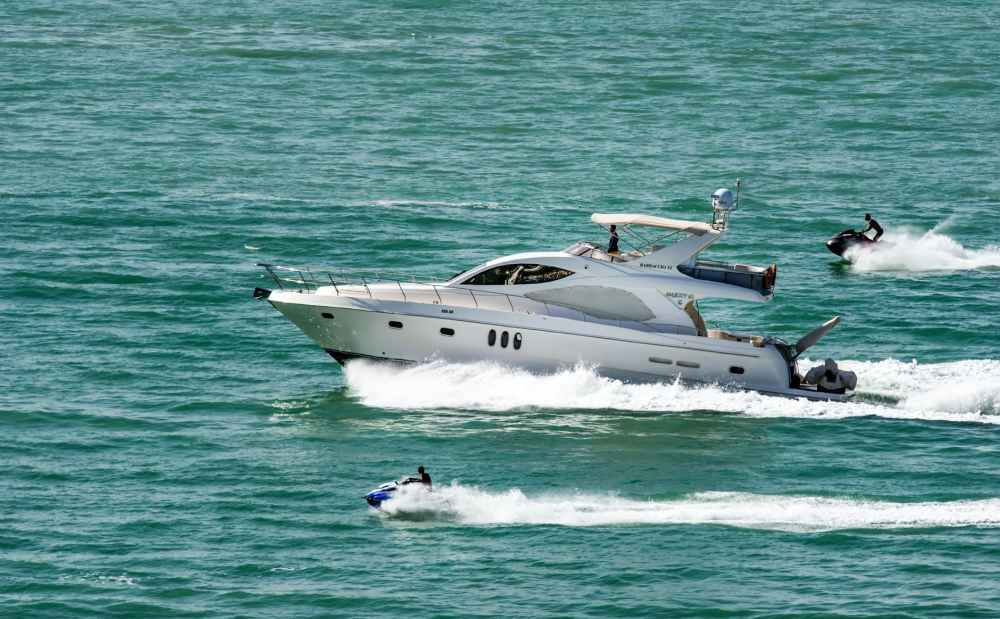 action boat jetski leisure